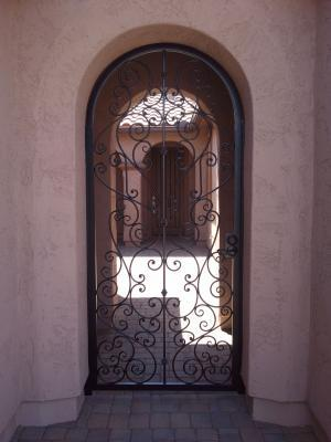 Custom Arched Old World Entry Gate