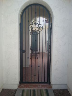 Custom Arched Old World 66 Entry Gate