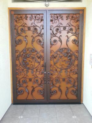 Custom Floral Door