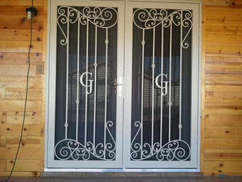 Old World 23 Double Doors w/ Initials