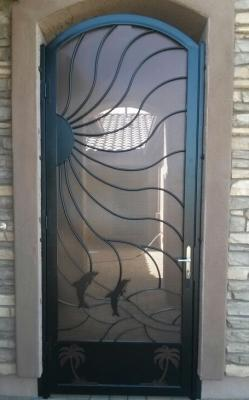 Custom Dolphin Gate Entry