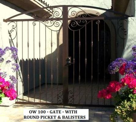 Old World 100 Double Arched Gate with Round Knuckles